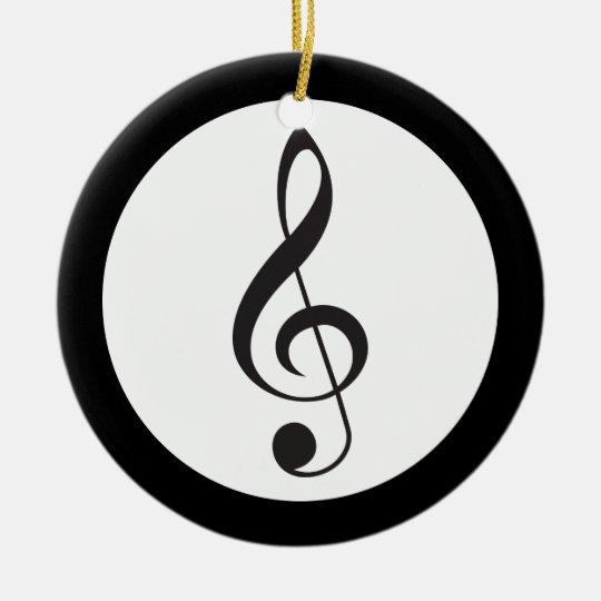 Music Treble Clef Keepsake Musician Gift Ceramic Ornament