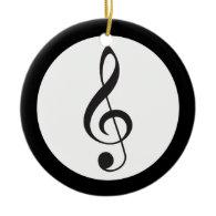 Music Treble Clef Keepsake Musician Gift Ornament