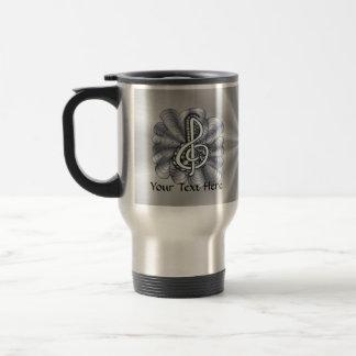 Music Treble Clef Silver Coffee Mugs