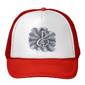 Music Treble Clef Silver Trucker Hat