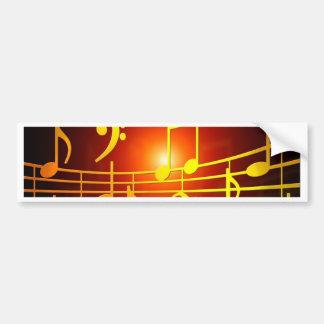 music treble clef sound happy and peace bumper sticker