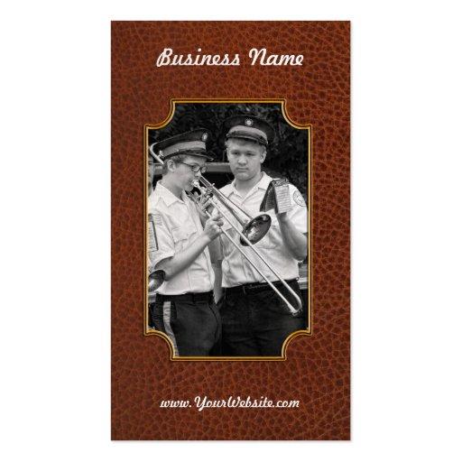 Music - Trombone - A helping hand Business Card Template