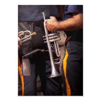 Music - Trumpet - Police marching band Card