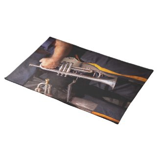 Music - Trumpet - Police marching band Place Mat
