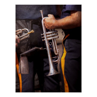 Music - Trumpet - Police marching band Poster