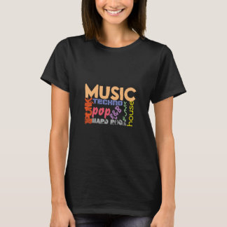 Music tshirt all kinds of music genres
