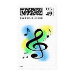 Music Tunes Postage Stamp