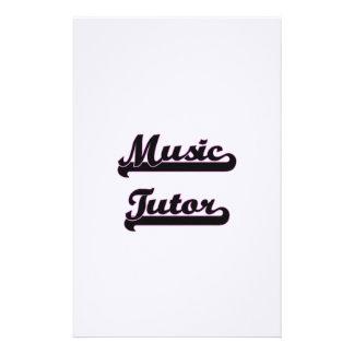Music Tutor Classic Job Design Stationery