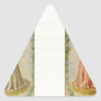 Music (two paintings) by Pierre-Auguste Renoir Triangle Sticker