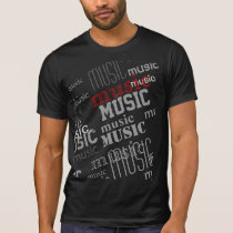 music typography pattern T-Shirt
