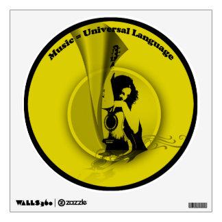 Music Universal Language Yellow Black Wall Decal