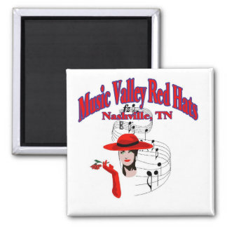 Music Valley Red Hats Magnet