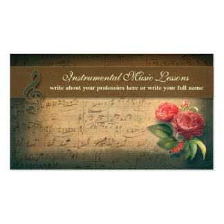 music vintage business cards standard business cards