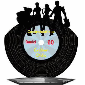 Music Vinyl Record Themed Milestone Birthdays Cutout