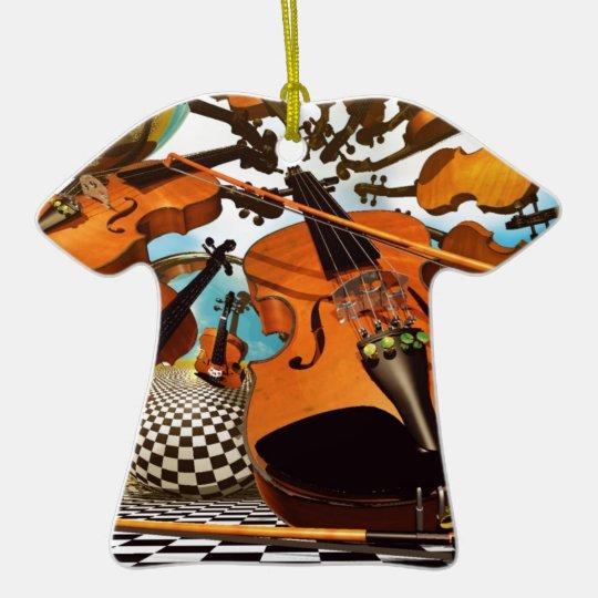 Music Violin Ceramic Ornament