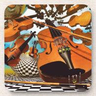 Music Violin Coaster