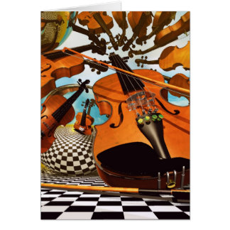 Music Violin Greeting Card