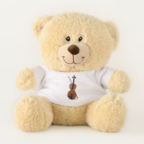 Music & Violin Lover Sherman Teddy Bear