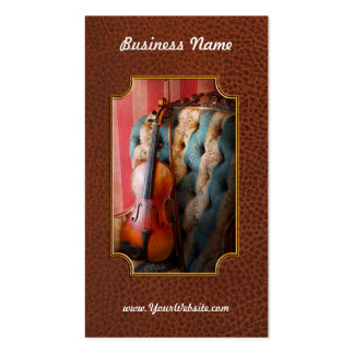 Music - Violin - Musical Elegance Double-Sided Standard Business Cards (Pack Of 100)