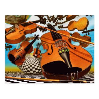 Music Violin Post Card