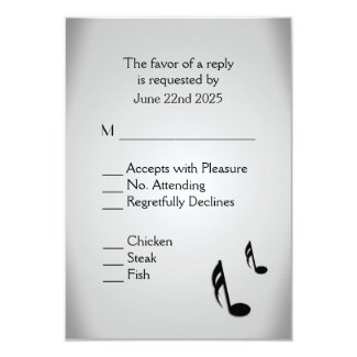 Music Theme Wedding Invitations