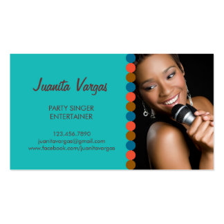 Music Wedding Singer Photo Business Card