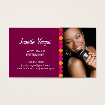 Browse products at zazzle with the theme entertainment business music wedding singer photo business card colourmoves