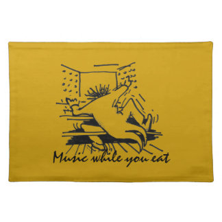 Music while you eat - orange place mats