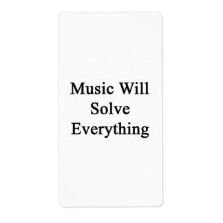 Music Will Solve Everything Custom Shipping Label