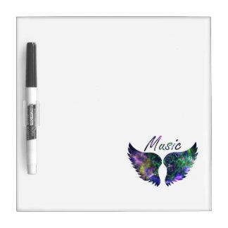 Music wings nova 1 purple green dry erase board