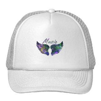 Music wings nova 1 purple green trucker hat