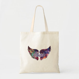 Music wings overlay 1 budget tote bag