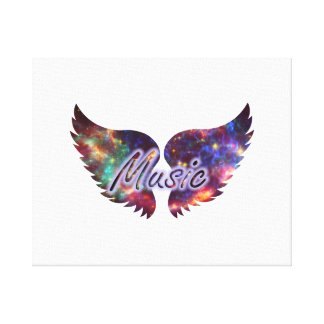 Music wings overlay 1 canvas print