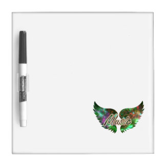 Music wings overlay 1 purple green dry erase whiteboards