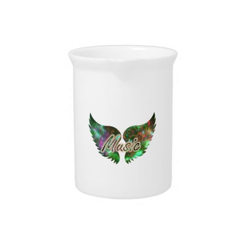 Music wings overlay 1 purple green beverage pitchers