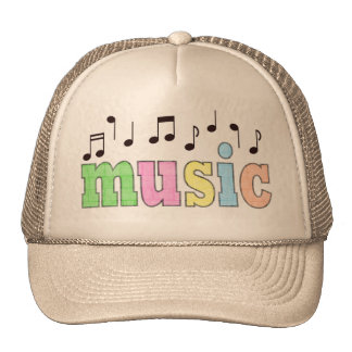 Music with Notes Mesh Hat