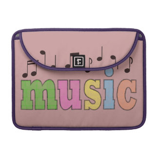 Music with Notes Sleeve For MacBooks