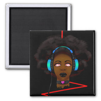 Music (without static) 2 inch square magnet
