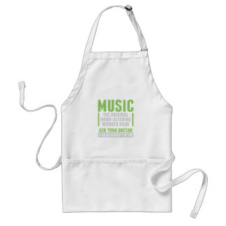 Music Wonder Drug Adult Apron