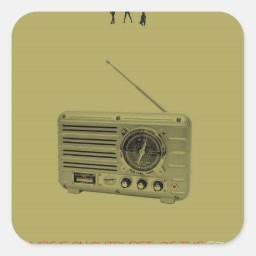 Music world square sticker
