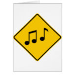 Music Zone Highway Sign Card