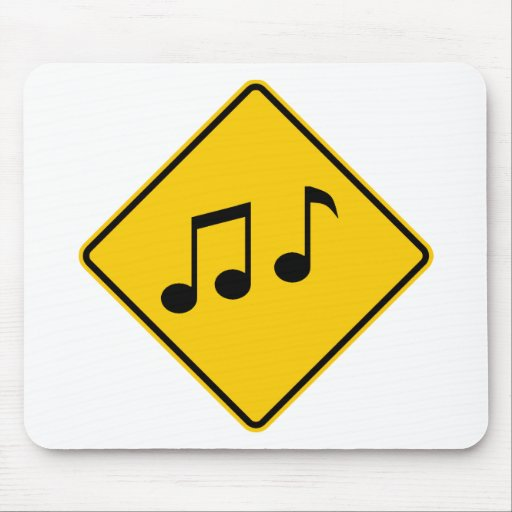 Music Zone Highway Sign Mouse Pads