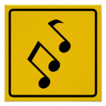 Music Zone Highway Sign Print