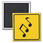 Music Zone Highway Sign Refrigerator Magnets