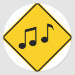 Music Zone Highway Sign Stickers