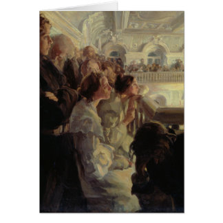 Música, 1902-03 tarjeta de felicitación