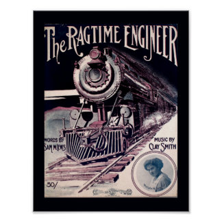 Música 1912 del vintage el arte de la cubierta del póster