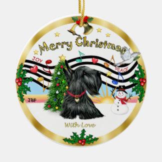 Música 1 de Navidad - escocés Terrier Adorno