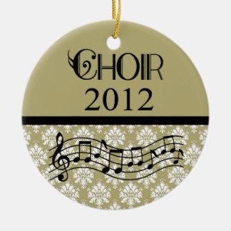 Música 2012 del coro adorno redondo de cerámica