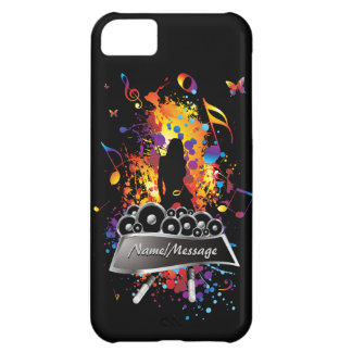 Música 2 cajas de la mota carcasa para iPhone 5C